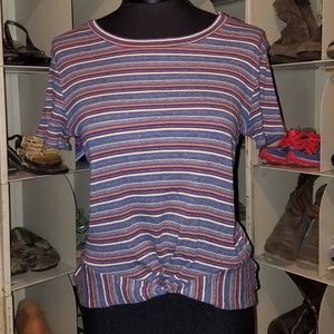 Tops - Blue stripe top size medium